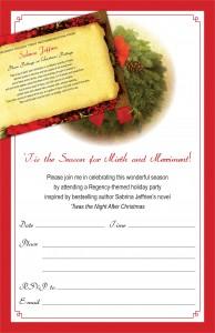 SJ party invite and recipe card
