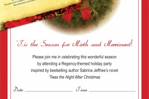 Sabrina Jeffries Regency Christmas Party Kit